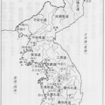 朝鮮の地図